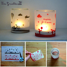 photophore Plus - Ines Lian - Diy For Kids, Crafts For Kids, Cadeau Parents, Candle Jars, Candles, Activities For Kids, Diy And Crafts, Christmas Crafts, Projects To Try