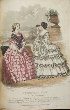 Le Moniteur de la Mode, summer 1859. University of Dusseldorf. Civil War Era Fashion Plate | In the Swan's Shadow