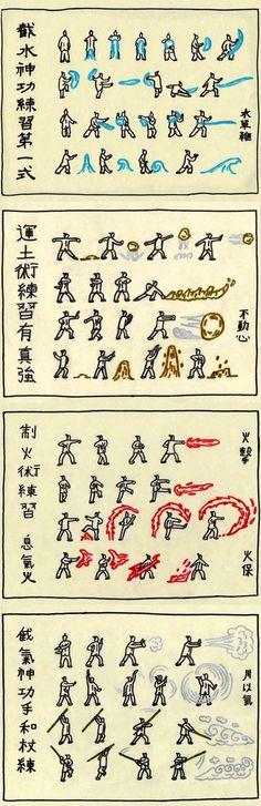 Avatar: The Last Airbender.❤ bending scrolls