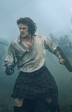 Jamie Fraser at the Battle of Culloden                                                                                                                                                                                 More