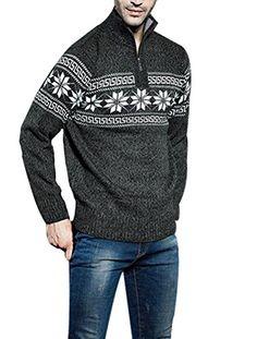 Minibee Men's Snowflake Pattern Knitted Sweater Pullovers Gray M Minibee http://www.amazon.com/dp/B018FKX9MC/ref=cm_sw_r_pi_dp_qH9uwb0VGG9RX