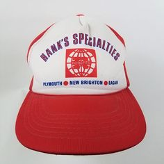 af5e5d9c82e Hanks Specialties Flooring Roberts Vintage Snapback Trucker Hat Cap Mesh  Foam Red White Minneapolis Minneapolis Minnesota