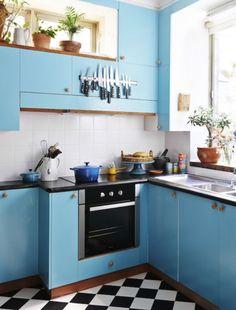 Cocinas azules… Como tus ojos