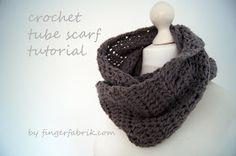 FINGERFABRIK: Crochet tube scarf tutorial * Beauty is where you find it #8