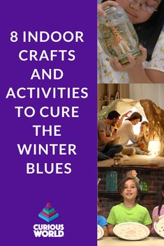 When the weather outside is frightful, keeping children occupied isn't always delightful. Here are a few tips for fun activities and kids' crafts you can do indoors this winter. Steam Learning, Fun Learning, Creative Thinking Skills, How To Make Snowflakes, Indoor Crafts, Learn A New Skill, Cabin Fever, Winter Fun, New Words