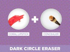 Coral Lipstick + Concealer = Dark Circle Eraser & other tips and tricks All Things Beauty, Beauty Make Up, Diy Beauty, Beauty Skin, Health And Beauty, Beauty Hacks, Using Concealer, Concealer For Dark Circles, Under Eye Concealer