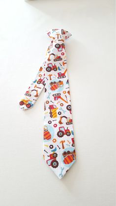 Etsy listing at https://www.etsy.com/listing/274894428/boys-necktie-boys-tie-wheels-collection