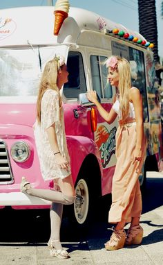 love this photo, those outfits, and the flower crowns.  Props to Jordan Drysdale!