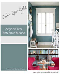 Color Spotlight: Benjamin Moore Aegean Teal