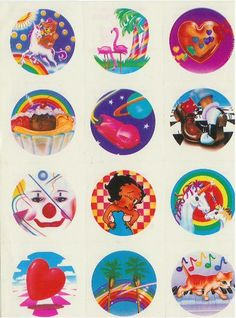 I <3 Lisa Frank stickers!