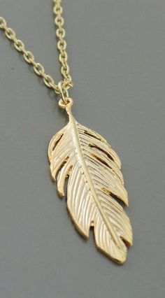 Feather Necklace - handmade jewelry