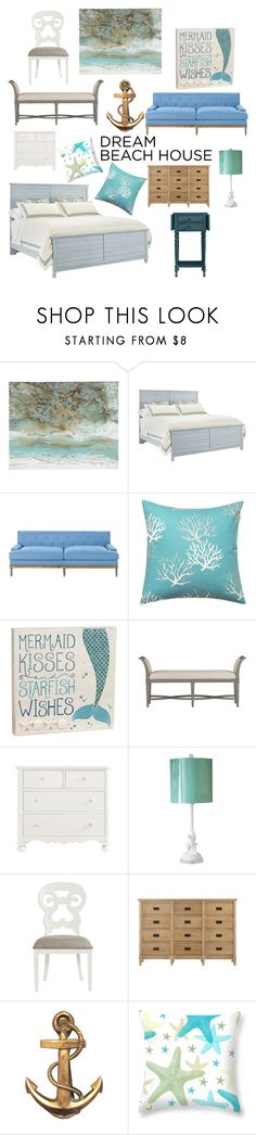 """dream beach house"" by galileedreams ❤ liked on Polyvore featuring interior, interiors, interior design, home, home decor, interior decorating, Pier 1 Imports, Stanley Furniture and Grasslands Road"