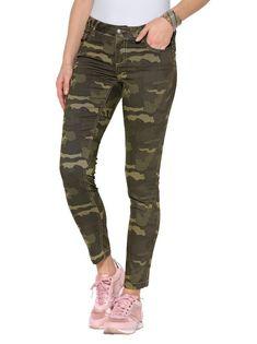 Pantalón estampado camuflaje skinny fit. Pantalón largo de mujer ... 955d5f5a02c7