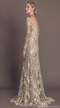 Flora embroidered beautiful modified a line wedding dress style sol