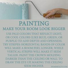 Tricks for painting rooms