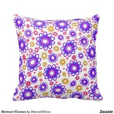 Decorate your home with decorative and throw pillows from Zazzle. Floral Throw Pillows, Decorative Throw Pillows, Abstract Flowers, Decorating Your Home, Home Accessories, Design, Home Decor, Accent Pillows, Decoration Home
