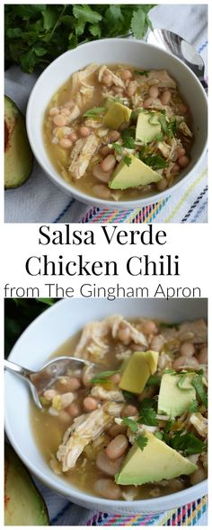 Salsa Verde Chicken Chili- healthy, refreshing, and SO DELICIOUS. You've got to try this one!