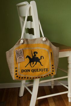 The Market Tote Don Quijote Print by @Green Bean on Etsy. $40.00, via Etsy.