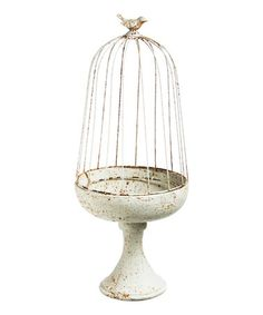 Another great find on #zulily! Antique White Bird Topiary #zulilyfinds