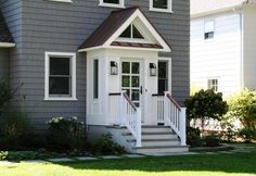Travessa front porch lights - Slomin Residence Vestibule Addition - transitional - Exterior - New York - Richard Bubnowski Design LLC IMG_6140.JPG