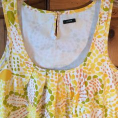 J.Crew Dress 34 in bust 35 in long bright happy and in great condition. Wonderful for summer is also lined inside J. Crew Dresses Midi