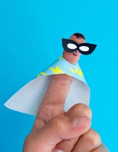 Humorous Do It Yourself Superhero Finger Puppets | Lifestyle Ideas
