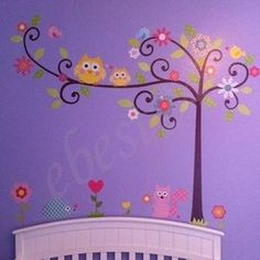 would like to paint something like this on the girls wall!
