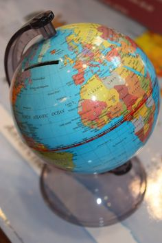 Globe Moneybox - contribute when I feel like i Wanna get away :)