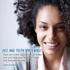 Whitening only begins in the dental chair. Onward, it is up to you, the patient, to do your best in maintaining the oh-so-desired pearly whites you have just achieved, while simultaneously maintaining the integrity of your teeth.