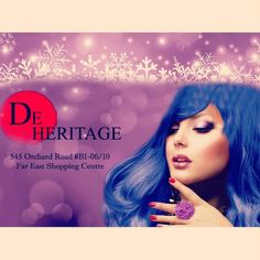5 days left to experience this year end promotion! Cut/Color/Treatment from $128!  Call 6235 5188 or visit De Heritage at 545 Orchard Road B1-06/10 Far East Shopping Centre S(238882).