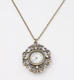 Antique Watch Necklace.