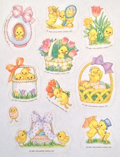 Vintage Easter Sticker sheet by Hallmark