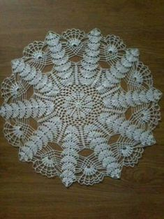 This beautiful handmade doily is made from white cotton thread, size This elegant doily will look beautiful on any table or can be used for any other decorative purpose. Free Crochet Doily Patterns, Crochet Motifs, Thread Crochet, Crochet Designs, Crochet Stitches, Filet Crochet, Knit Crochet, Crochet Braid, Crochet Table Runner