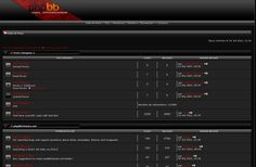 Abstract template4all.com Black Phpbb3 Style Theme #phpbb #template #design to Download