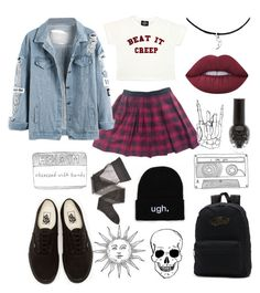 """Stayin street"" by b-e-l-l-a-r-y-a-n ❤ liked on Polyvore featuring Valfré, Topshop, Lime Crime, Vans and Wolford"