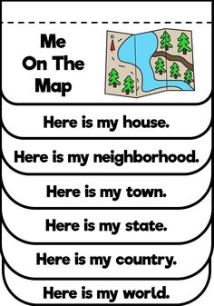 "This kindergarten, first grade or second grade lesson on map skills is the perfect compliment to the book ""Me On The Map"". This map project includes an anchor chart and flip book freebie. Preschool Social Studies, 3rd Grade Social Studies, Social Studies For Kids, Social Studies Communities, Kindergarten Lesson Plans, Kindergarten Activities, Ecole Bilingue, Continents And Oceans, Map Activities"