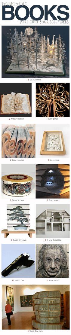 REPUPOSEDBooksasSculptures