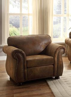 He-8405Bj-1 Sofa/Chair Collection Chair, Brw Bomber Jacket Mcfbr
