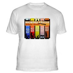 Castle Nikki Heat Fitted T-Shirt. Richard Castle, the writer from the TV show Castle, #NikkiHeat book series design on many products. #Castle #Beckett
