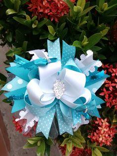 Moños Girls Bows, Four Square, Hanukkah, Hair Accessories, Wreaths, Decor, Cartago, Hair Bows, Bias Tape