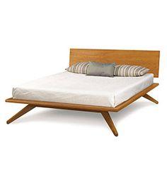 Astrid Modern Platform Bed in Cherry
