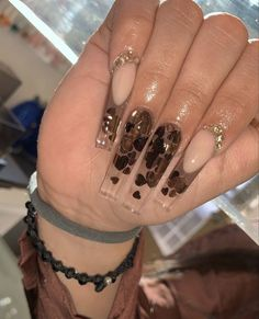 Bling Acrylic Nails, Glitter Accent Nails, Best Acrylic Nails, Acrylic Nail Designs, Nail Polish Designs, Nail Art Designs, Stylish Nails, Trendy Nails, Nail Mania