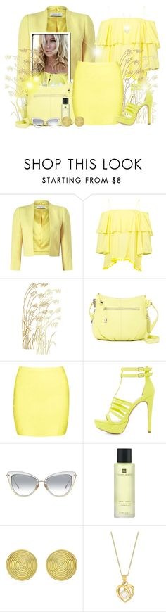 """""""~Yellow Day~"""" by li-lilou ❤ liked on Polyvore featuring Jacques Vert, Alice + Olivia, Vince Camuto, Boohoo, Charlotte Russe, Temple Spa and Theo Fennell"""