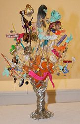 Sculpture made from found objects.