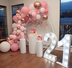 Twenty One Birthday Goals 💕💕💕 . Super talented Ellen created this prettiest party for her birthday! 21st Birthday Themes, 21st Bday Ideas, Birthday Goals, 18th Birthday Party, Girl Birthday, 18th Birthday Decor, 21st Birthday Party Ideas For Girls, 21st Party Themes, 21st Birthday Cake Toppers