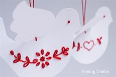 Tutorial: Paper Doves, with template.  ♥♥