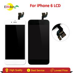 ==> [Free Shipping] Buy Best Elifeking 5pcs/Lot White & Black for iphone 6 LCD Assembly Touch Screen Digitizer Full ReplaceFrameCamera&Home ButtonSensor Online with LOWEST Price | 32809456675