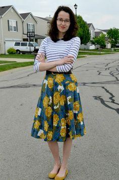Bramblewood Fashion ❘ Modest Fashion Blog: What Im Wearing -- Classic Florals & Stripes for Spring
