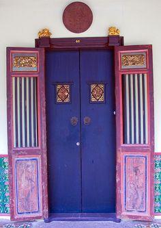 Chinese Door in Old Phuket Town by Jamie Monk in Phuket, via Flickr