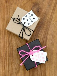 Make your own clay gift tags.